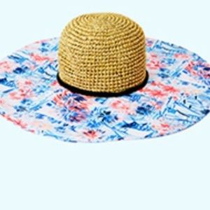 NWT Lilly Pulitzer Sea to Shining Sea Beach Hat